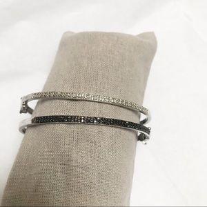 Sterling Silver & Diamond Bangles